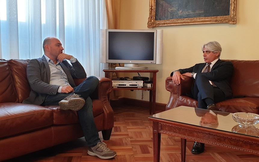 Incontro tra il Presidente Pompeo e il dg Asl Lorusso