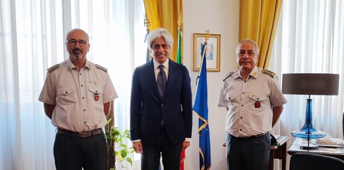 Il benvenuto al nuovo comandante della Finanza, Tripoli e il ringraziamento al comandante Gallozzi del presidente Pompeo