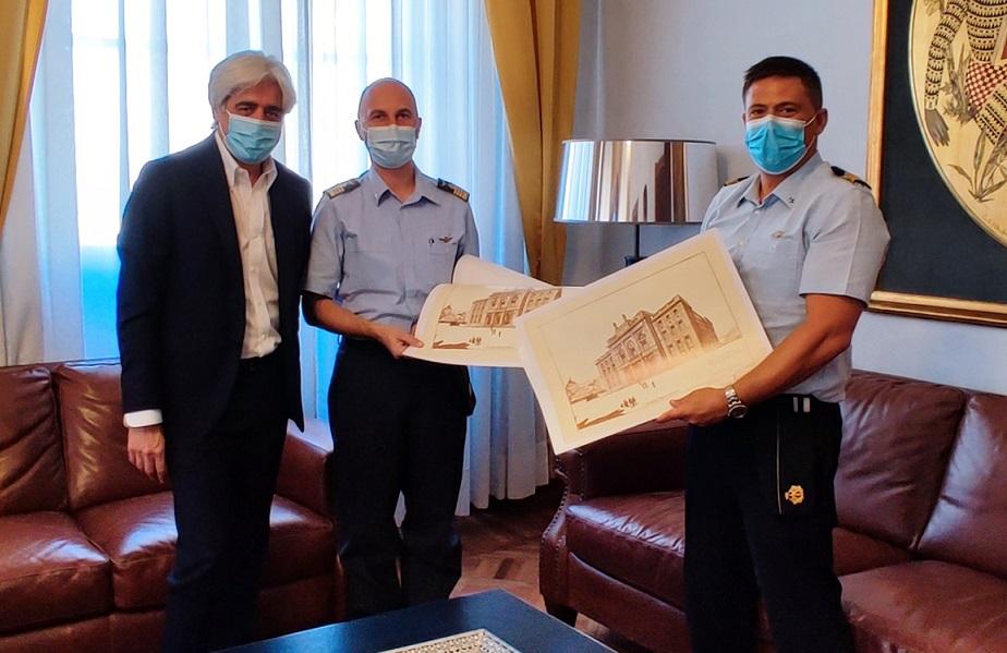 Il Presidente Pompeo riceve la visita dei due Comandanti del 72esimo Stormo in vista dell'avvicendamento